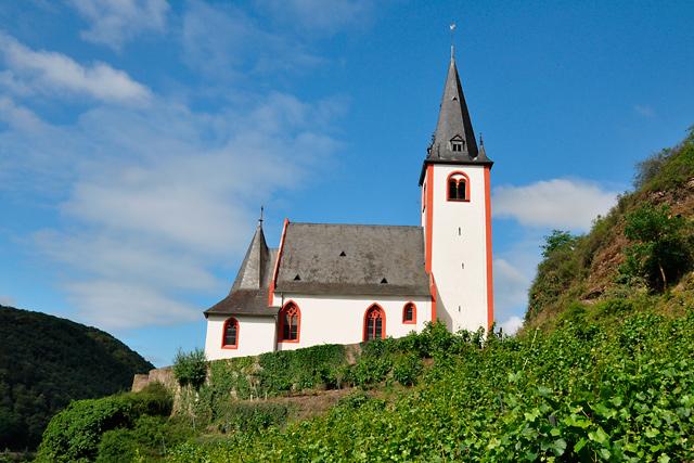 Blick vom Weinberg auf St. Johanneskirche